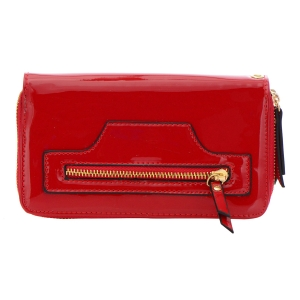 Patent Leather Wallet 32299 - Red