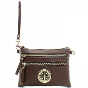 Petite Style Messenger Style Wallet - K001L - Brown
