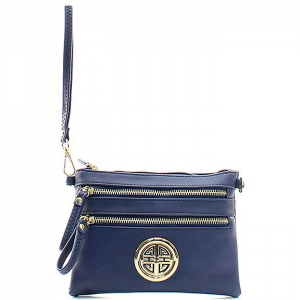 Petite Style Messenger Style Wallet - K001L - Navy