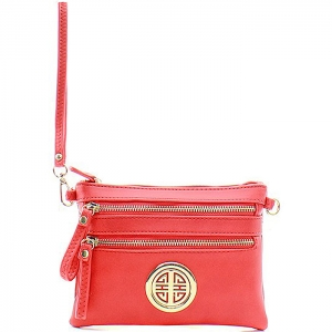 Petite Style Messenger Style Wallet - K001L - Red