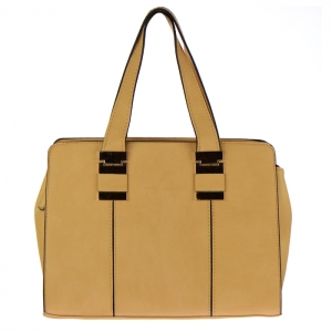 David Jones Faux Leather Metal Accents Handbag 32903 - Camel