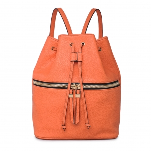 "Original Vegan Leather Backpack ""Jude"" - Peach"