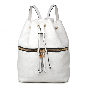 "Original Vegan Leather Backpack ""Jude"" - White"