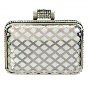 Elegant Matrix Evening Clutch 33330 - Silver