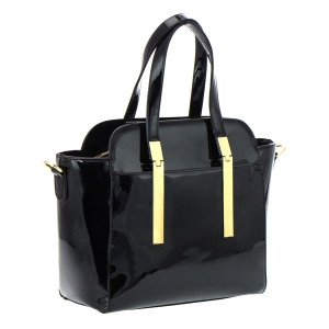 David Jones Patent Leather Handbag 33397 - Black