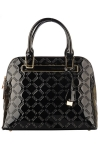 Faux Patten Leather Original David Jones Handbag Pattern Design - Black