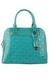 Faux Patten Leather Original David Jones Handbag Pattern Design -Turquoise