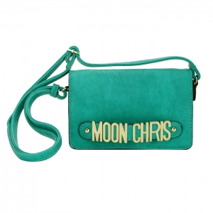 Moon Chris Petite Style Faux Leather Mini Crossbody Bag 33791 - Green