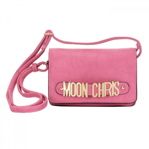 Moon Chris Petite Style Faux Leather Mini Crossbody Bag 33791 - Lavender