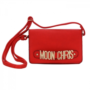 Moon Chris Petite Style Faux Leather Mini Crossbody Bag 33791 - Red