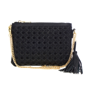 Quilted Faux Leather Clutch Purse 33815 - Black