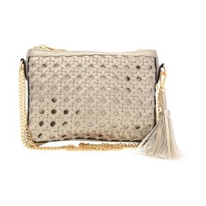 Quilted Faux Leather Clutch Purse 33815 - Champagne