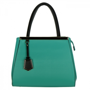 Faux Leather with Charm and Metal Accents Handbag 34253 - Mint