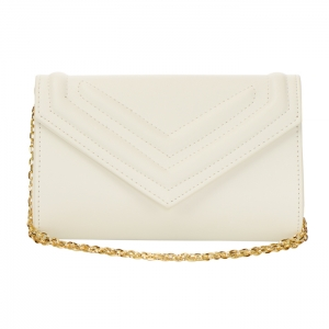 Urban Expression Arielle Faux Leather Clutch Purse 34316 - White