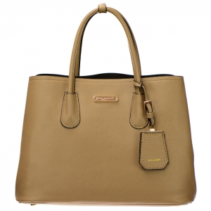 David Jones Faux Leather Tote bag with Leather Charm 34433 - Camel