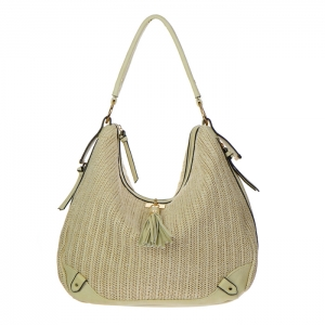 Urban Expressions Oasis Woven Hobo Bag 34805 - Cream