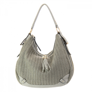 Urban Expressions Oasis Woven Hobo Bag 34805 - Gray