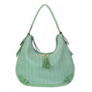 Urban Expressions Oasis Woven Hobo Bag 34805 - Seafoam