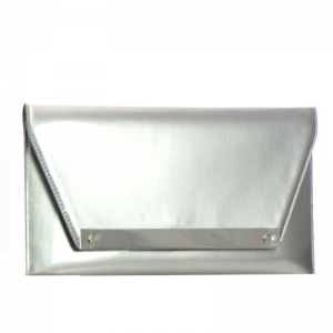 Patent Leather Clutch Purse HD2174 34964 Silver