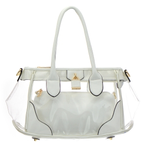 Clear Patent Leather Handbag 35181 - Off White