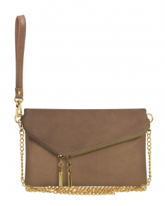 Faux Leather Clutch Purse WU023 BRICK
