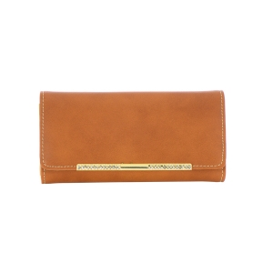 Faux Leather Wallet 35265 - Brown