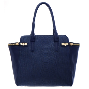 Urban Expressions Vanessi Animal Skin Faux LEather Handbag 35268 - Navy