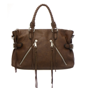 Urban Expressions Aiden Vegan Leather Bag 35272 - Hazelnut
