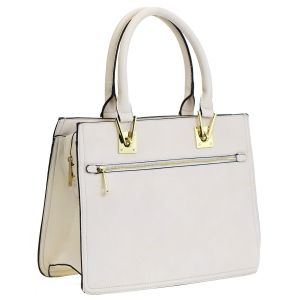 Faux Leather Tote Bag 35356 - Beige
