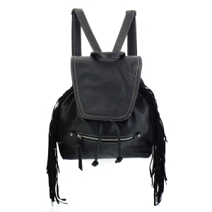 David Jones Fringe Backpack 35370 - Black
