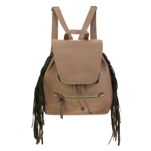 David Jones Fringe Backpack 35370 - Taupe