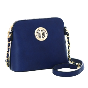 Faux Leather Crossbody Bag 35584 - Royal Blue
