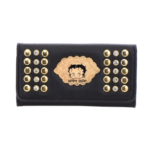 Betty Boop Faux Leather Wallet 35671 - Black