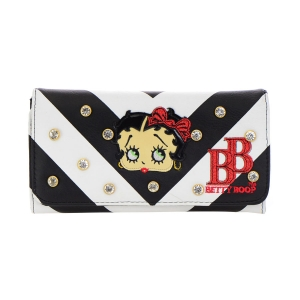 Betty Boop Striped Wallet 35682 - Red