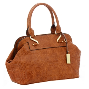 Textured Faux Leather Handbag 35741 - Tan