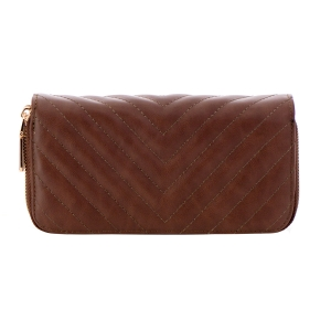 Faux Leather Wallet 35765 - Brown