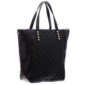 David Jones Qulited Faux Leather Tote Bag 35786 - Black