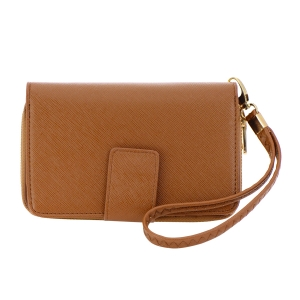 Faux Leather Wallet 35788 - Brown