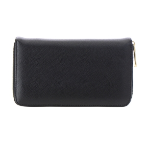Faux Leather Wallet 35803 - Black