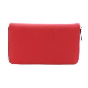 Faux Leather Wallet 35803 - Red