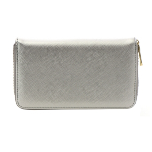 Faux Leather Wallet 35803 - Silver