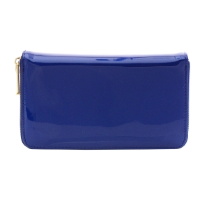 Patent Leather Wallet 35809 - Blue