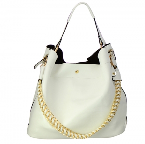 Faux Leather Hobo Bag H1050S 35828 - White