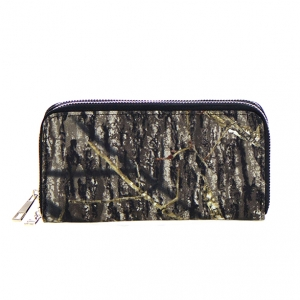 Leaves Print Patent Leather Wallet  Mt-106W 36104 -Black