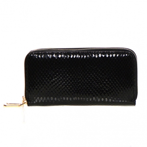 Animal Print Patent Leather Wallet  Mt-106W 36544 -Black