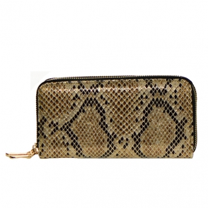 Animal Print Patent Leather Wallet  Mt-106W 36544 -Champange