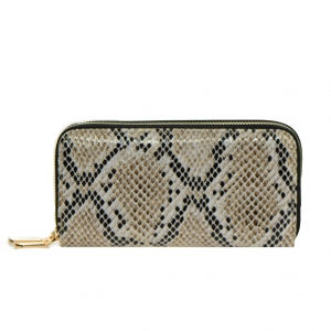 Animal Print Patent Leather Wallet  Mt-106W 36544 -Pewter