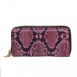Animal Print Patent Leather Wallet  Mt-106W 36544 -Pink