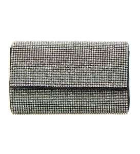Rhinestone Metal Clutch  Purse CLR-1213 36577 -Black