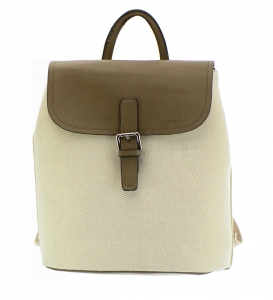David Jones Canvas Leather Backpack 5033-2 36667 Dark Camel
